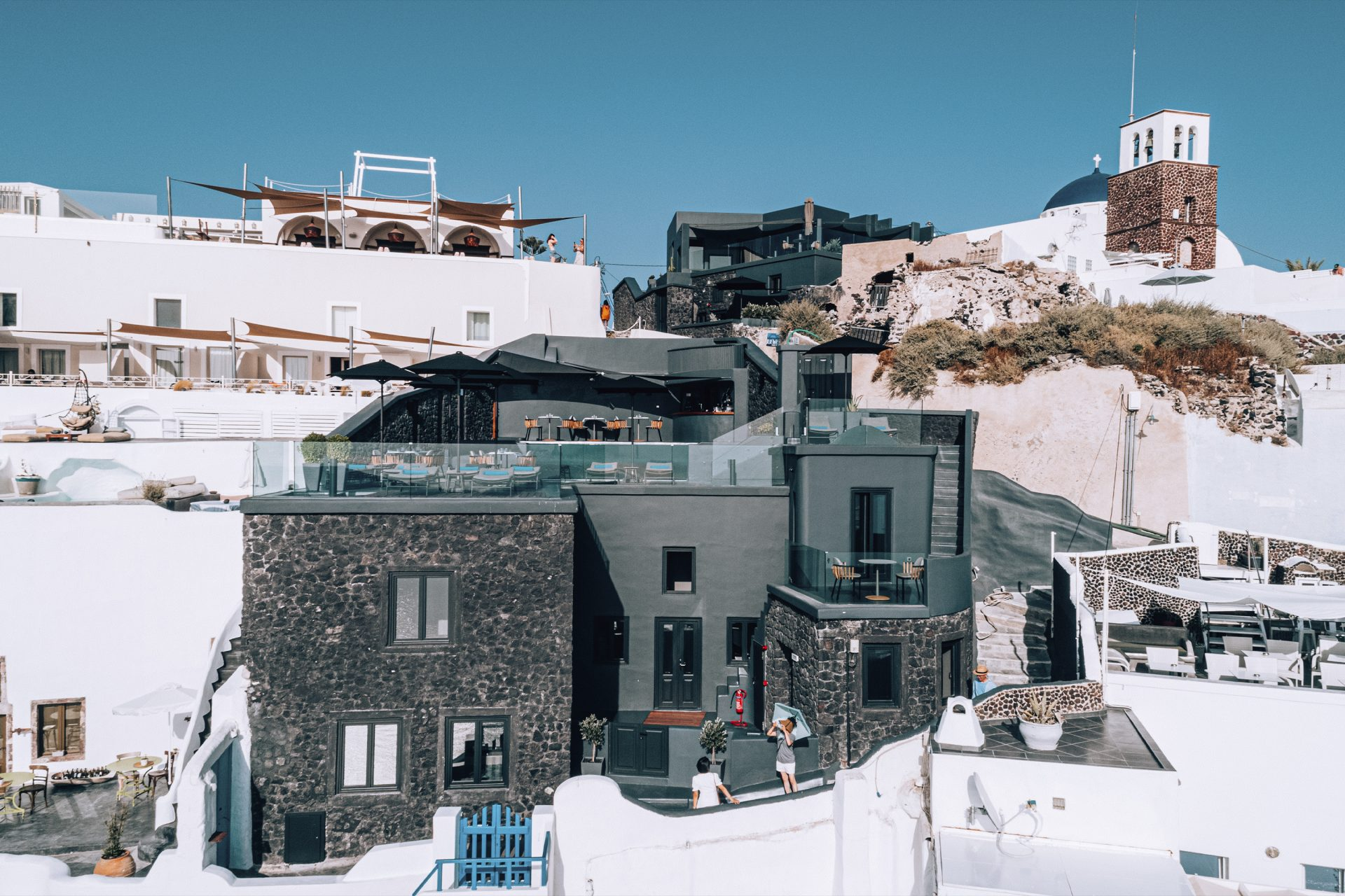 cliffside hotel in santorini greece