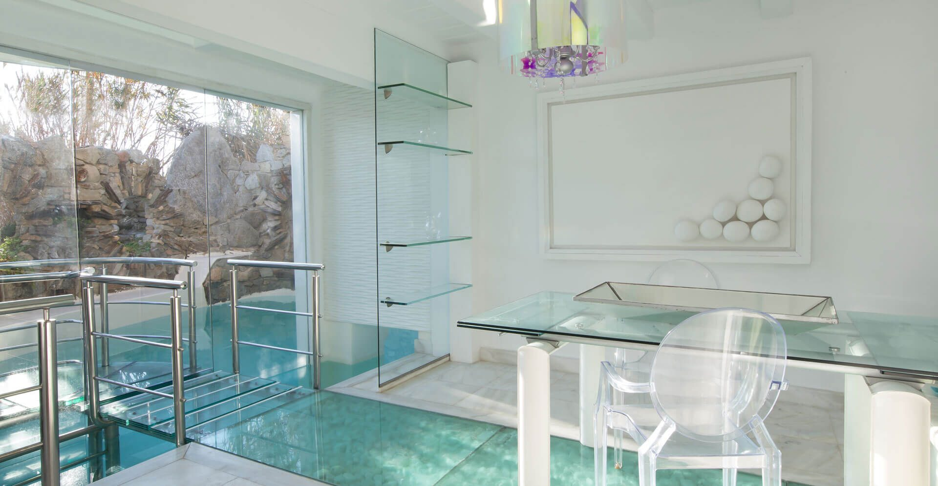 mykonos villa with private pool and jacuzzi