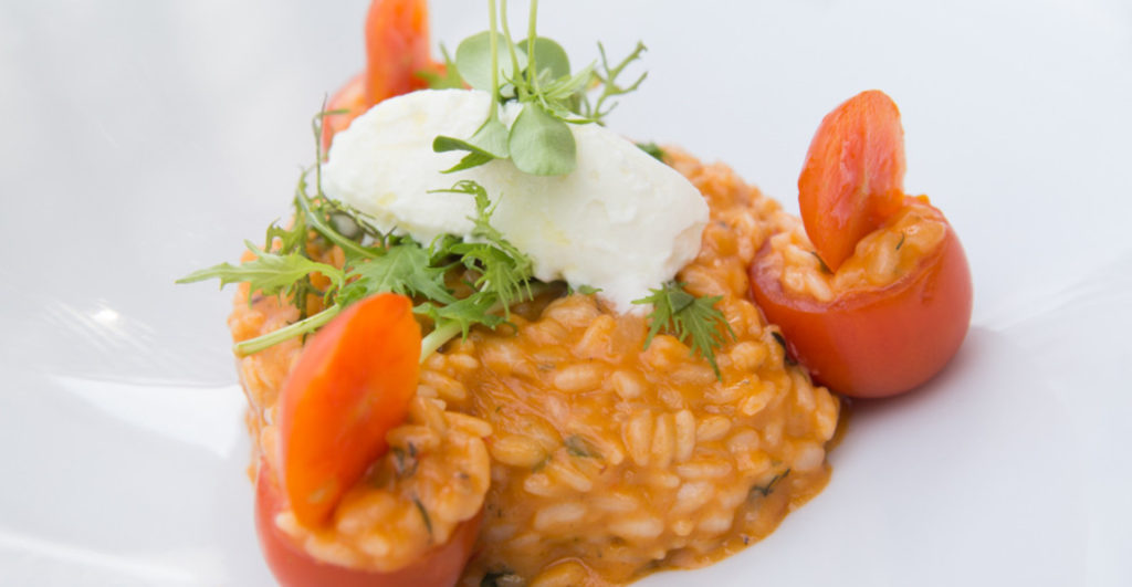 risotto with cherry tomatoes