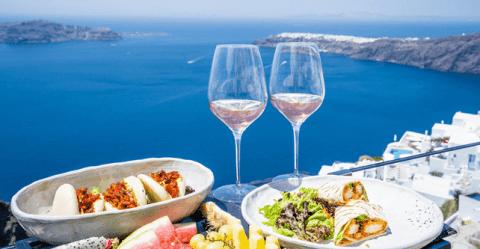 dinner with wine tasting